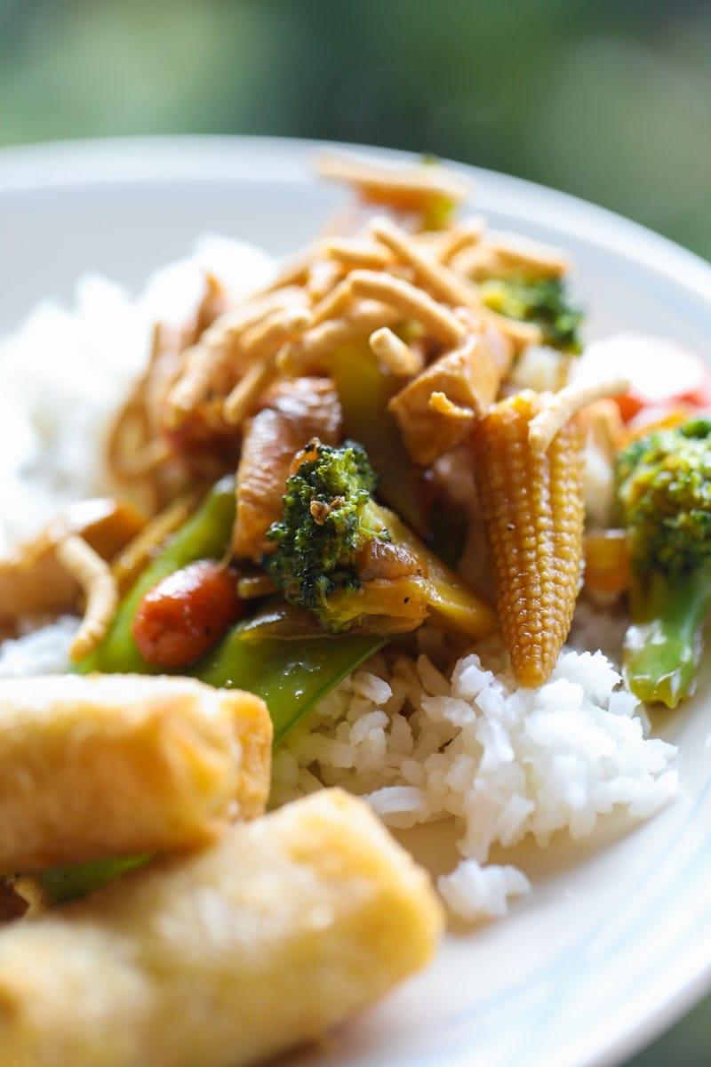stir fry with rice