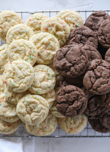 chocolate and vanilla cake mix cookies