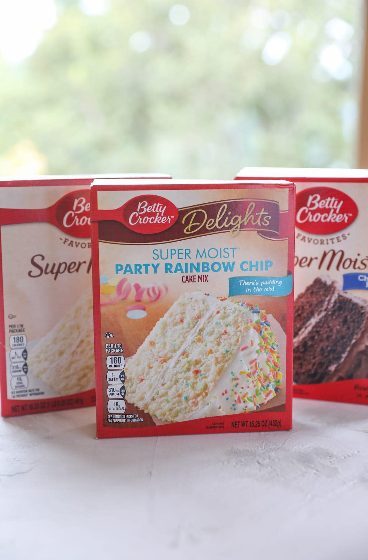 boxes of cake mix