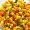 mixed mango salsa in bowl