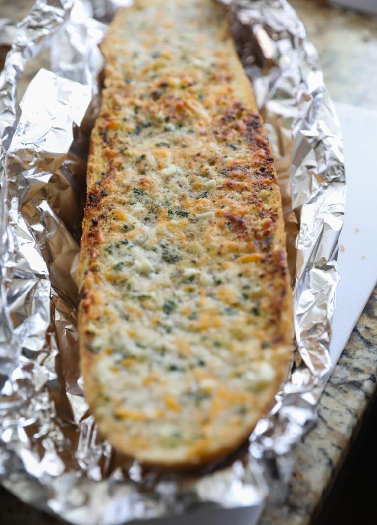 garlic bread in foil