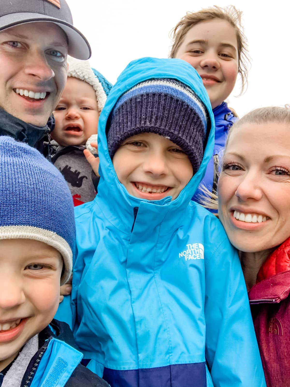 family in a selfie