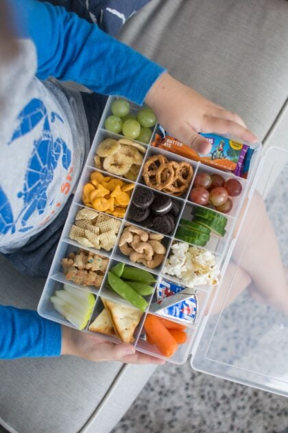 snack box on child's lap