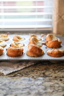 baked yorkshire puddings in muffin tin