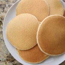 protein pancakes on white plate