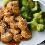 teriyaki chicken with broccoli on a plate