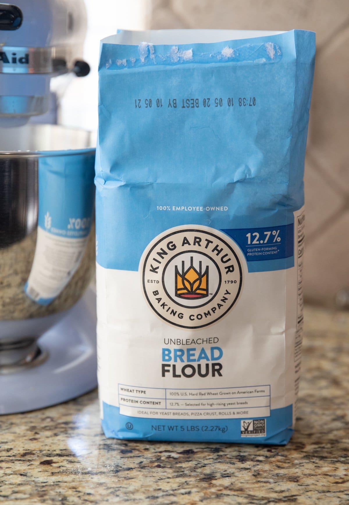bread flour on counter