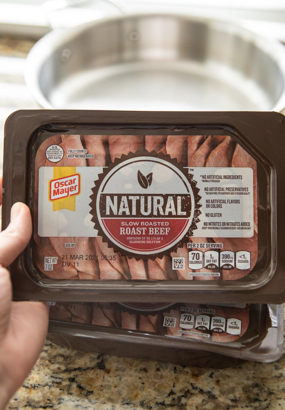 roast beef lunch meat in container