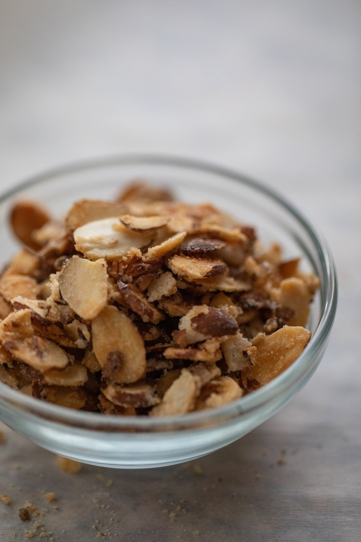 candied almonds in a bowl