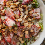 strawberry salad in bowl