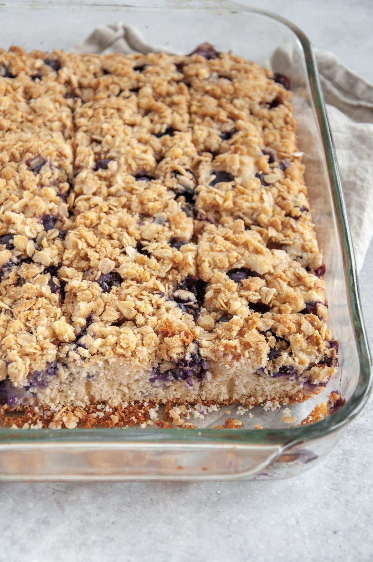 pan of lemon blueberry coffee cake