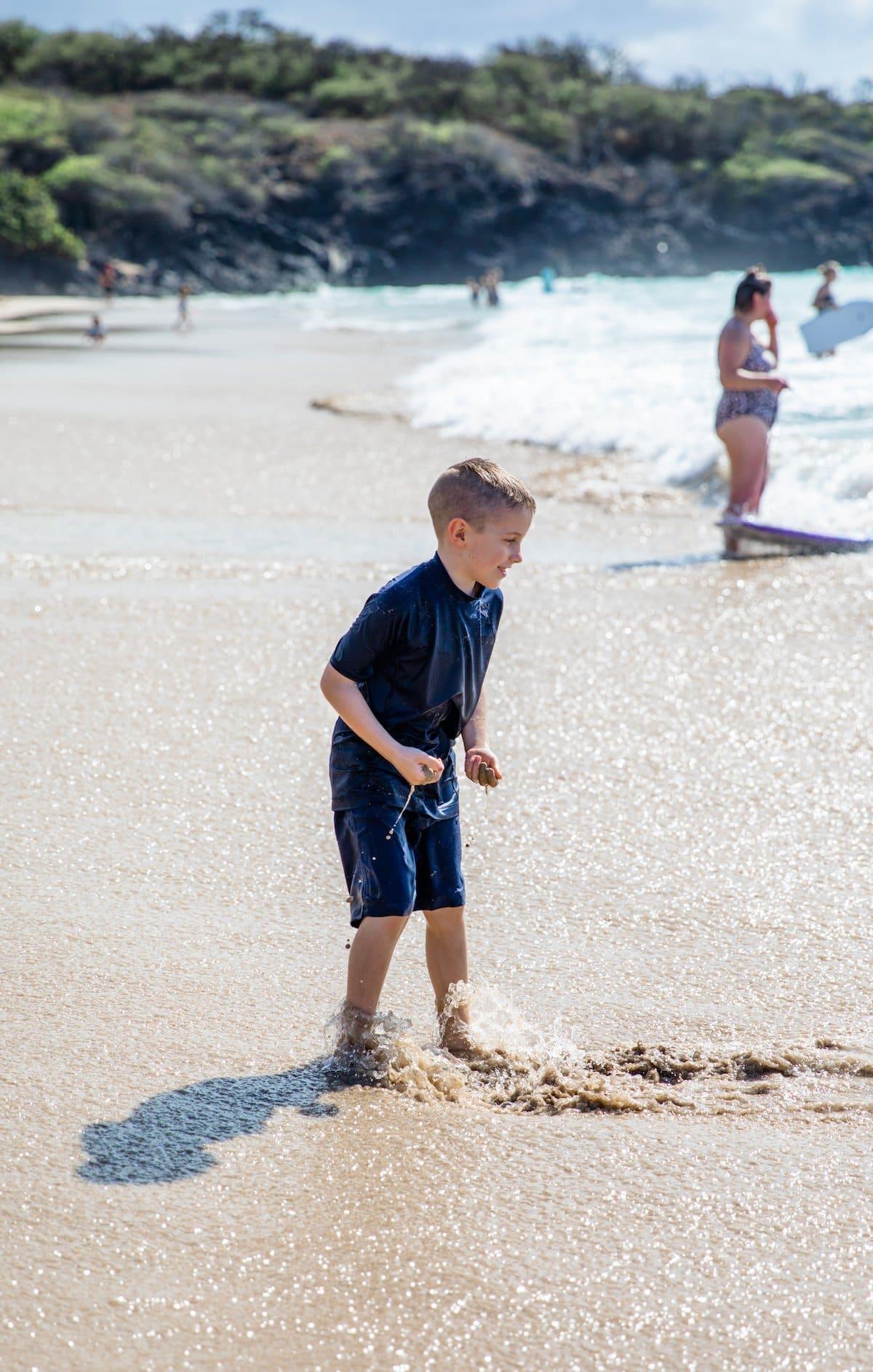boy in ocean