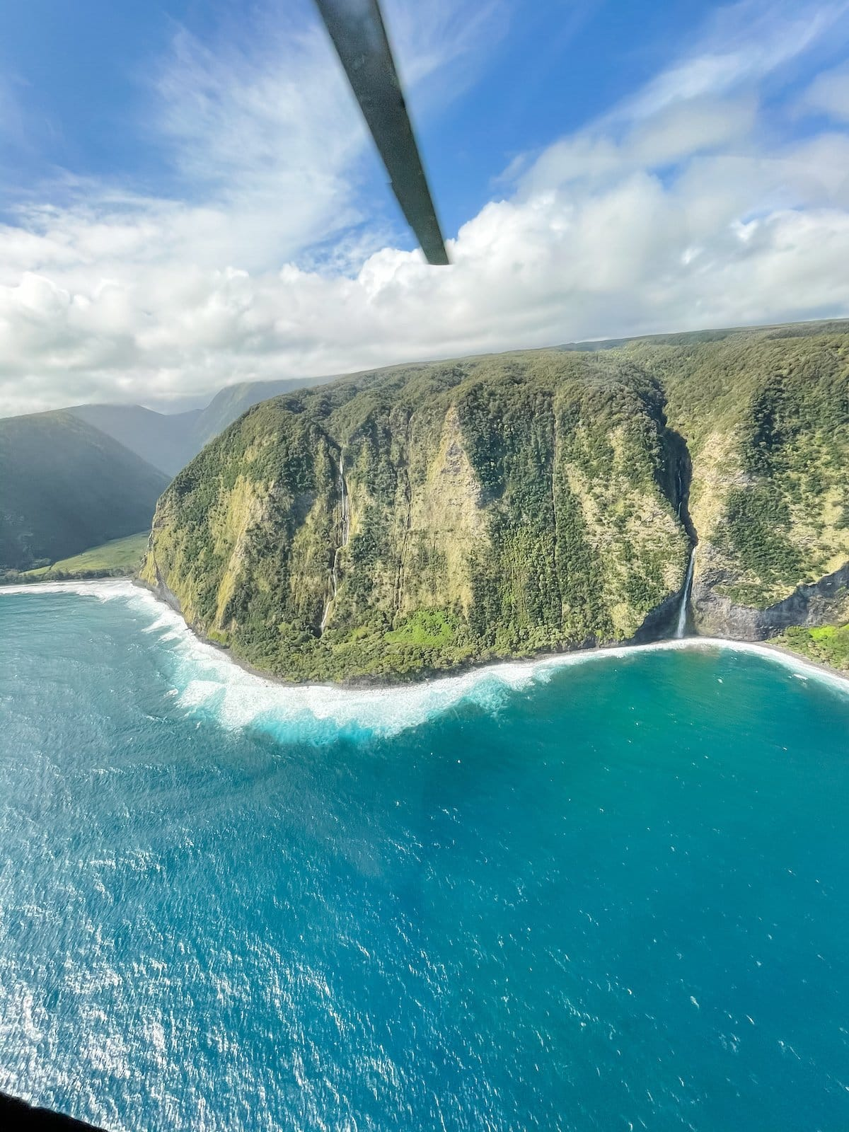 hawaii from a helicopter