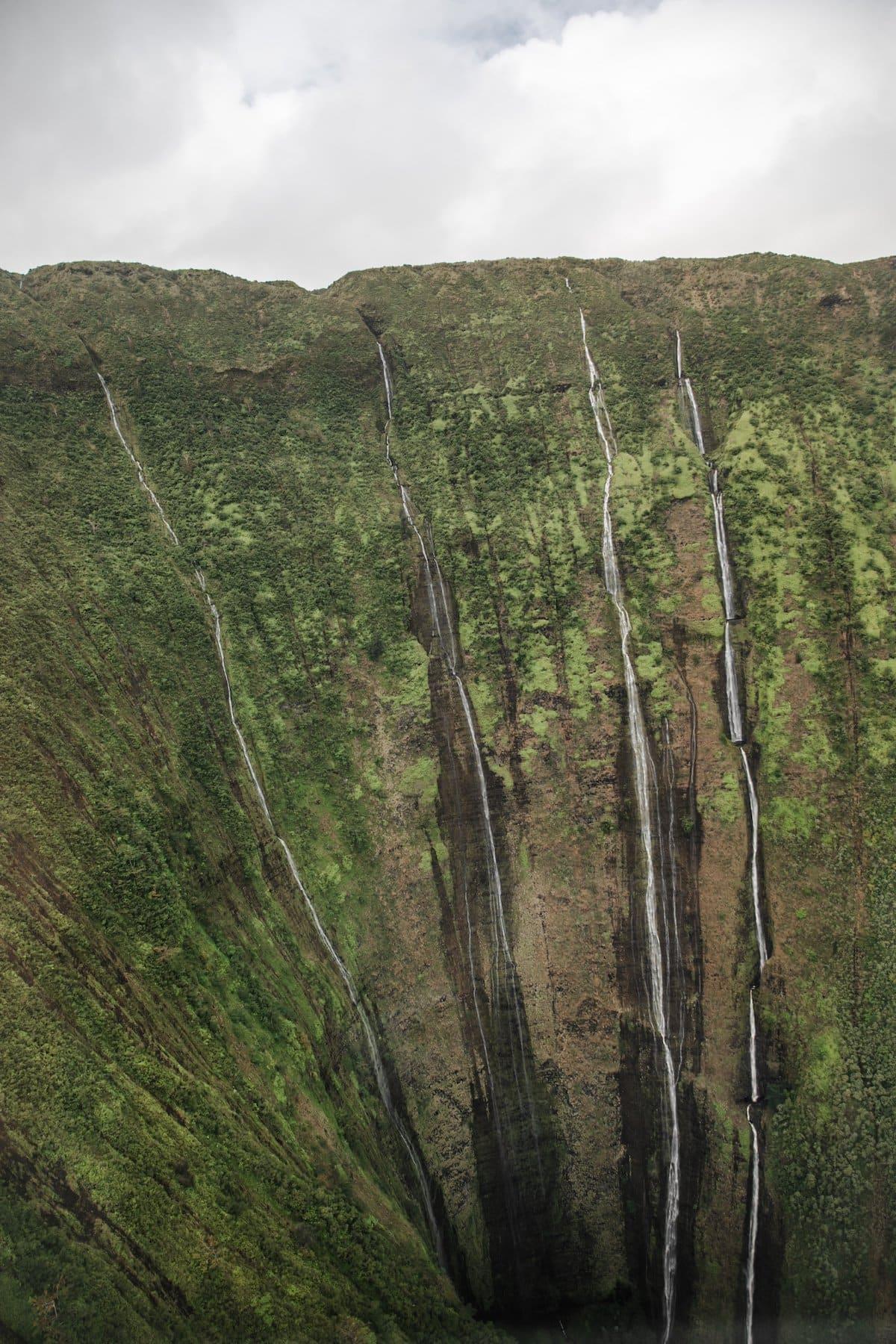 four waterfalls in hawaii