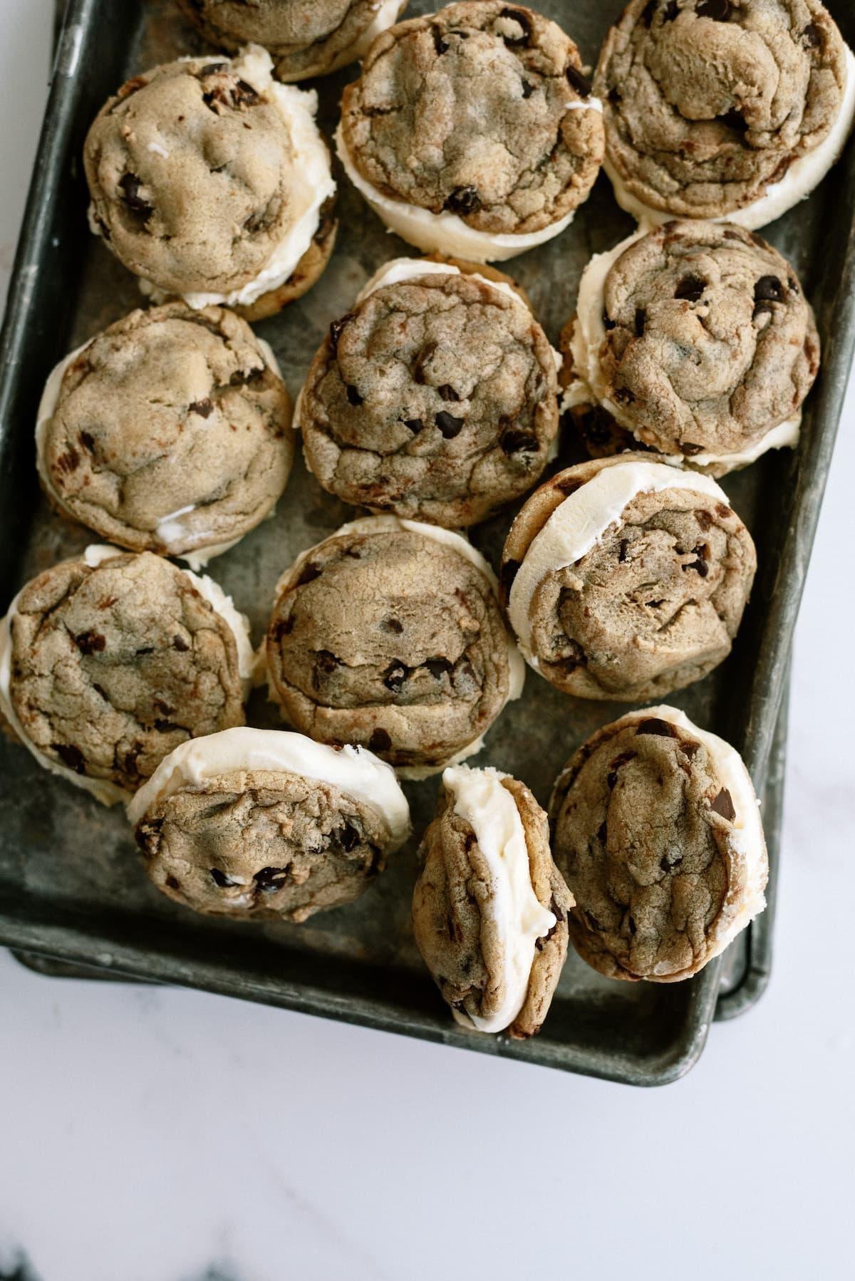 cookie ice cream sandwiches