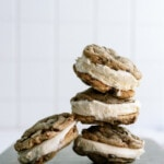 stacked cookie ice cream sandwiches