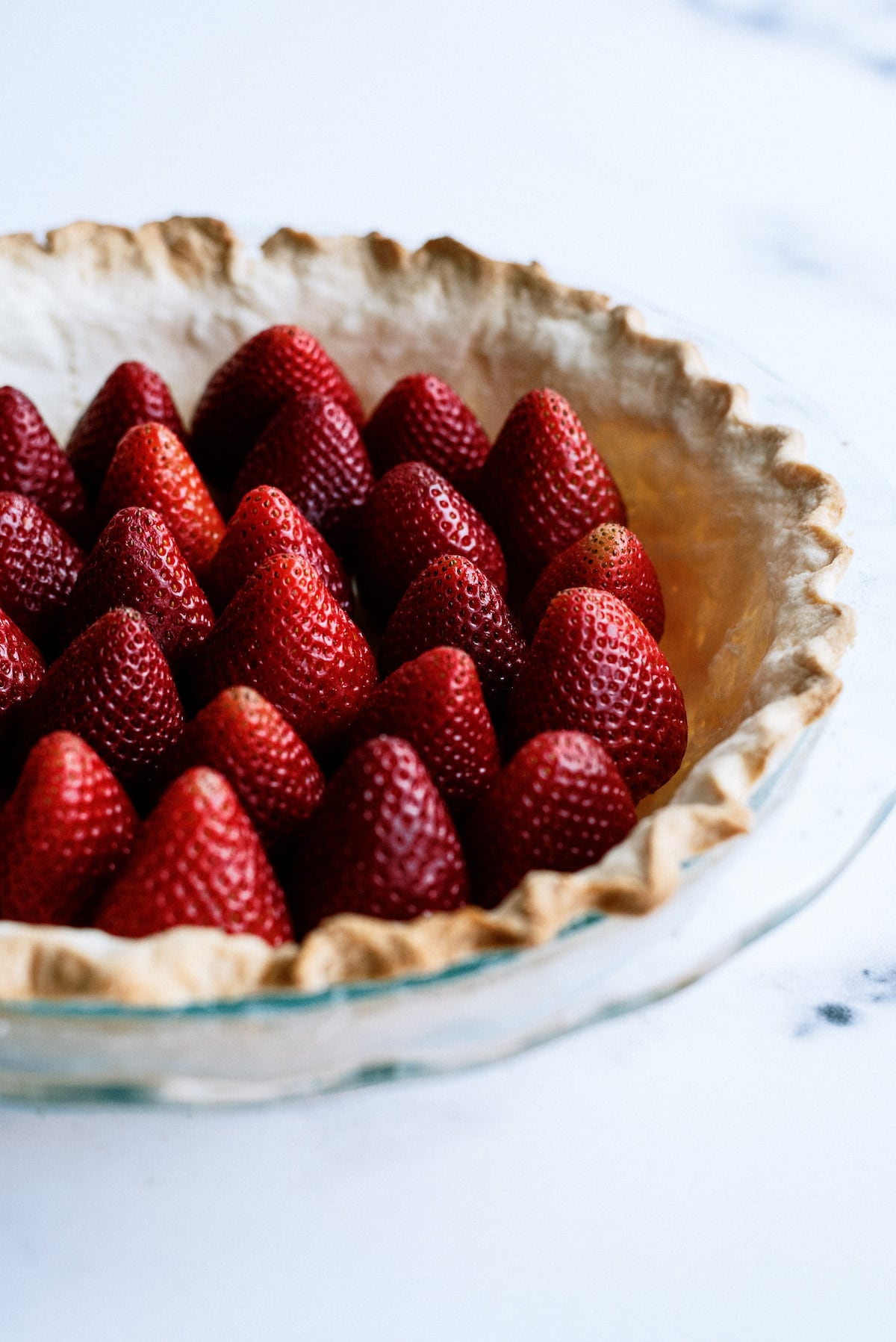 strawberries in a pie shell