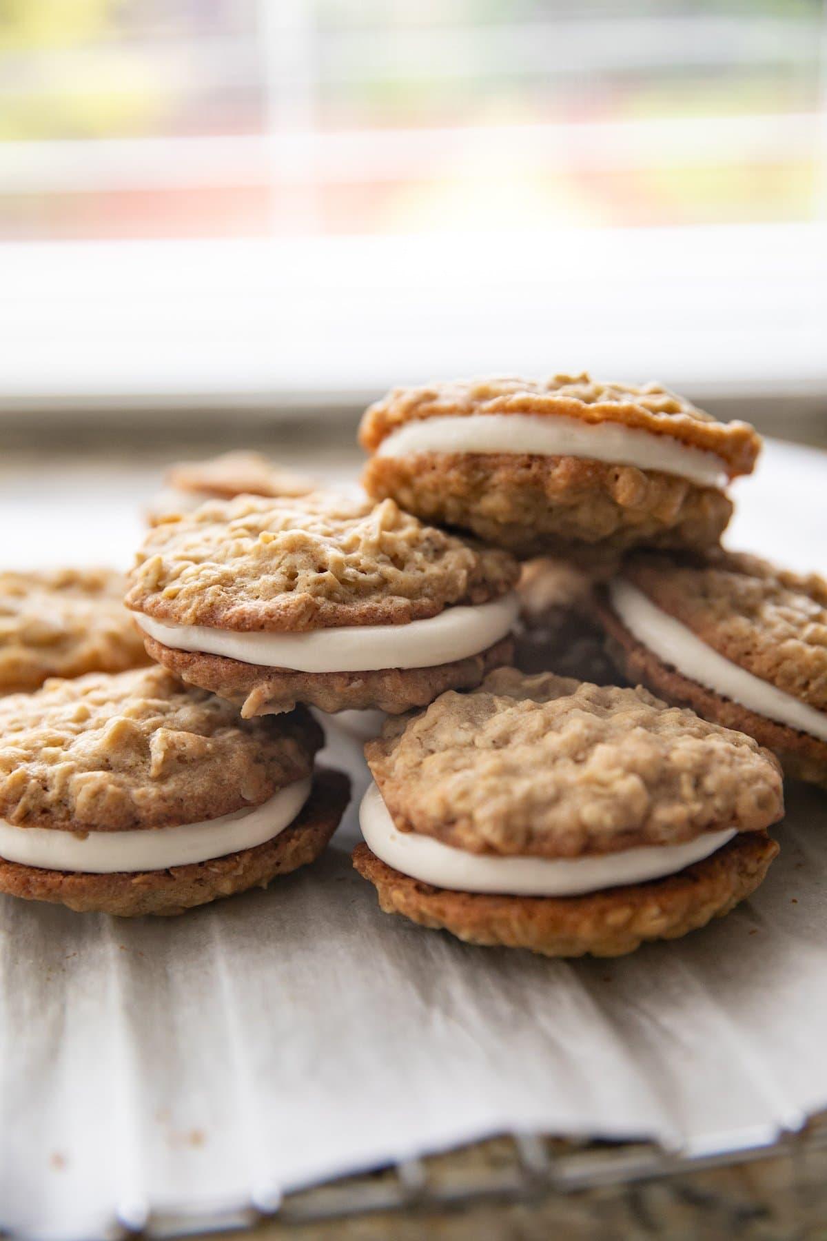 Homemade oat cream pies recipe