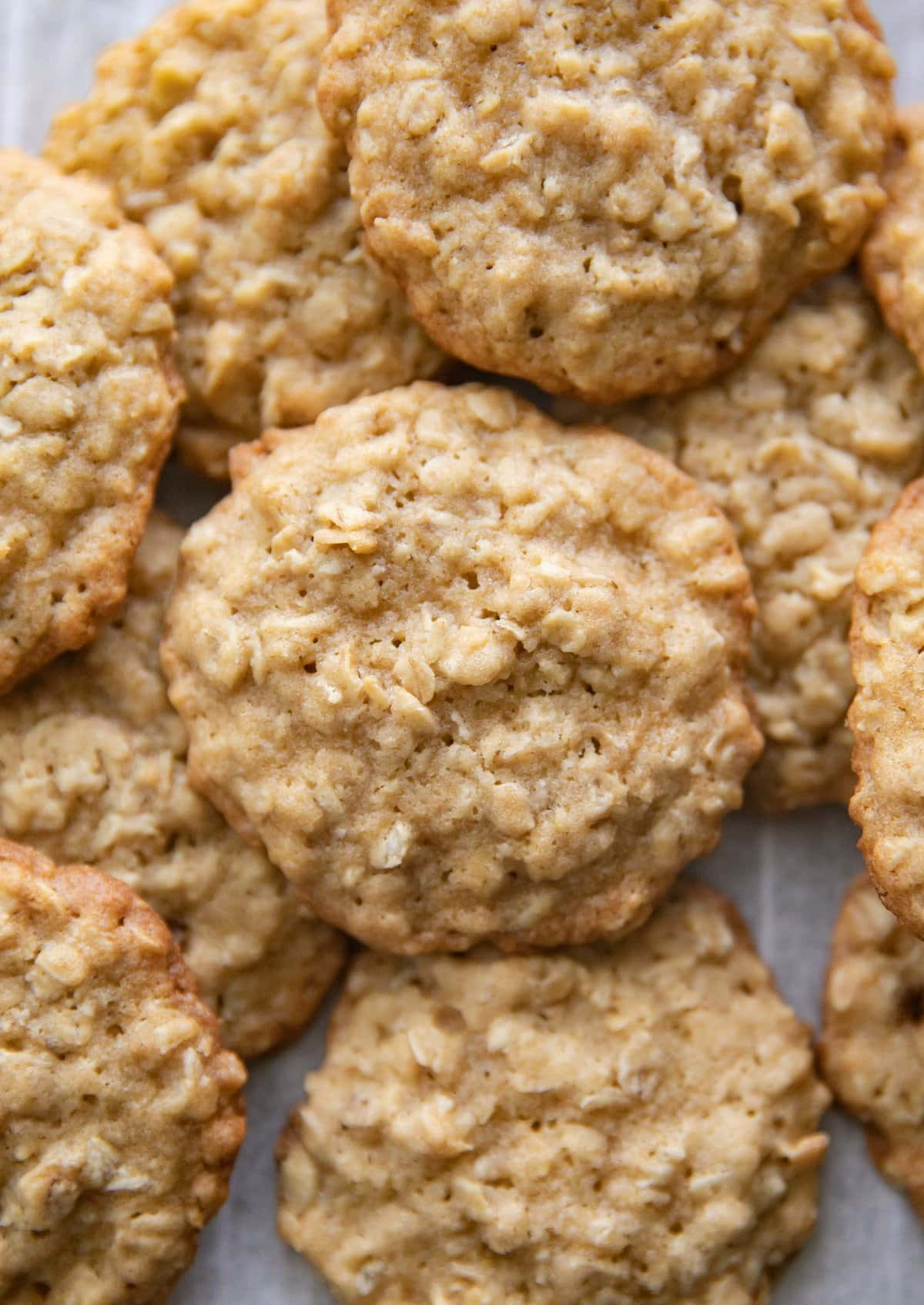 Oatmeal biscuits baked on a cooking rack