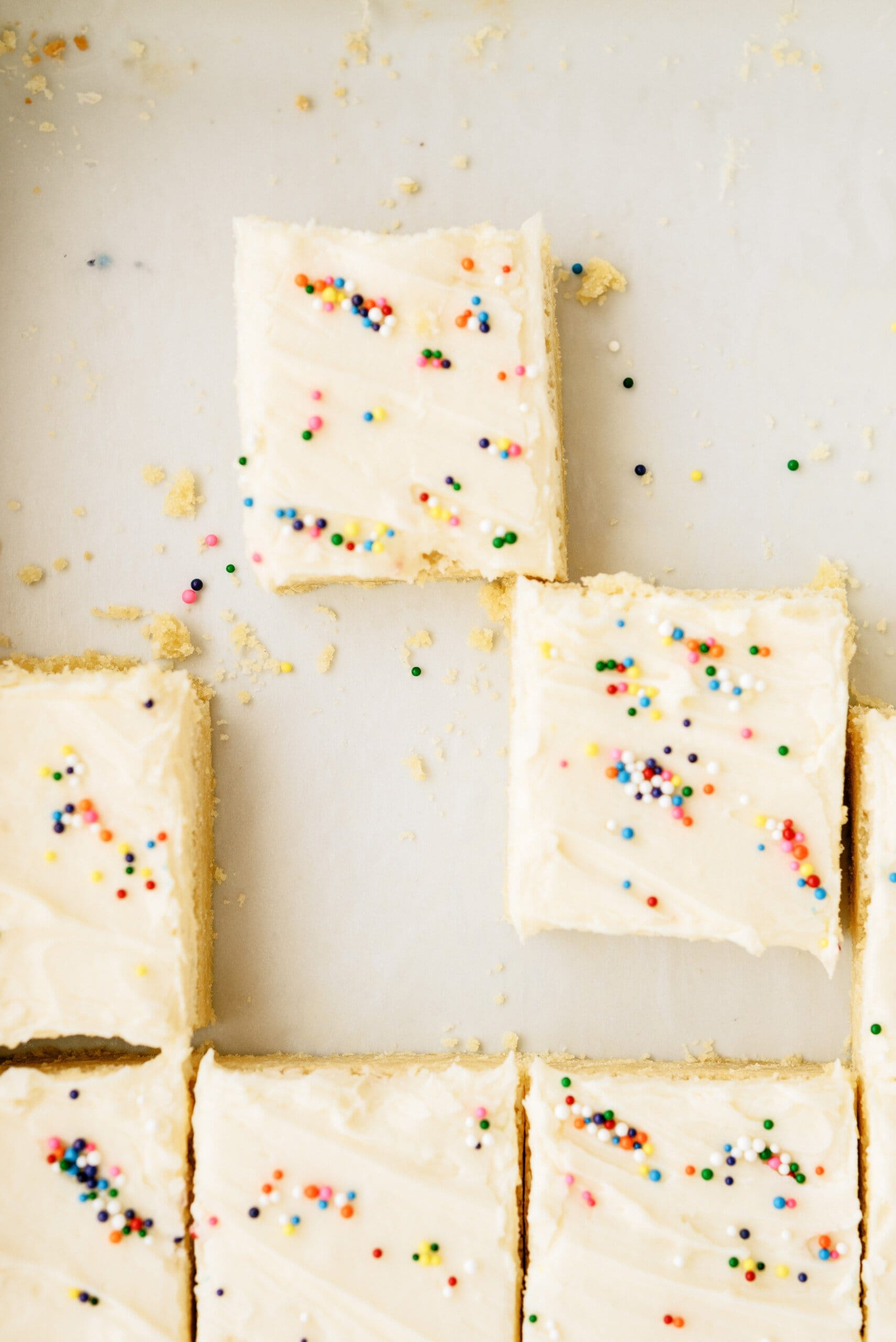 top down view of sugar cookie bars
