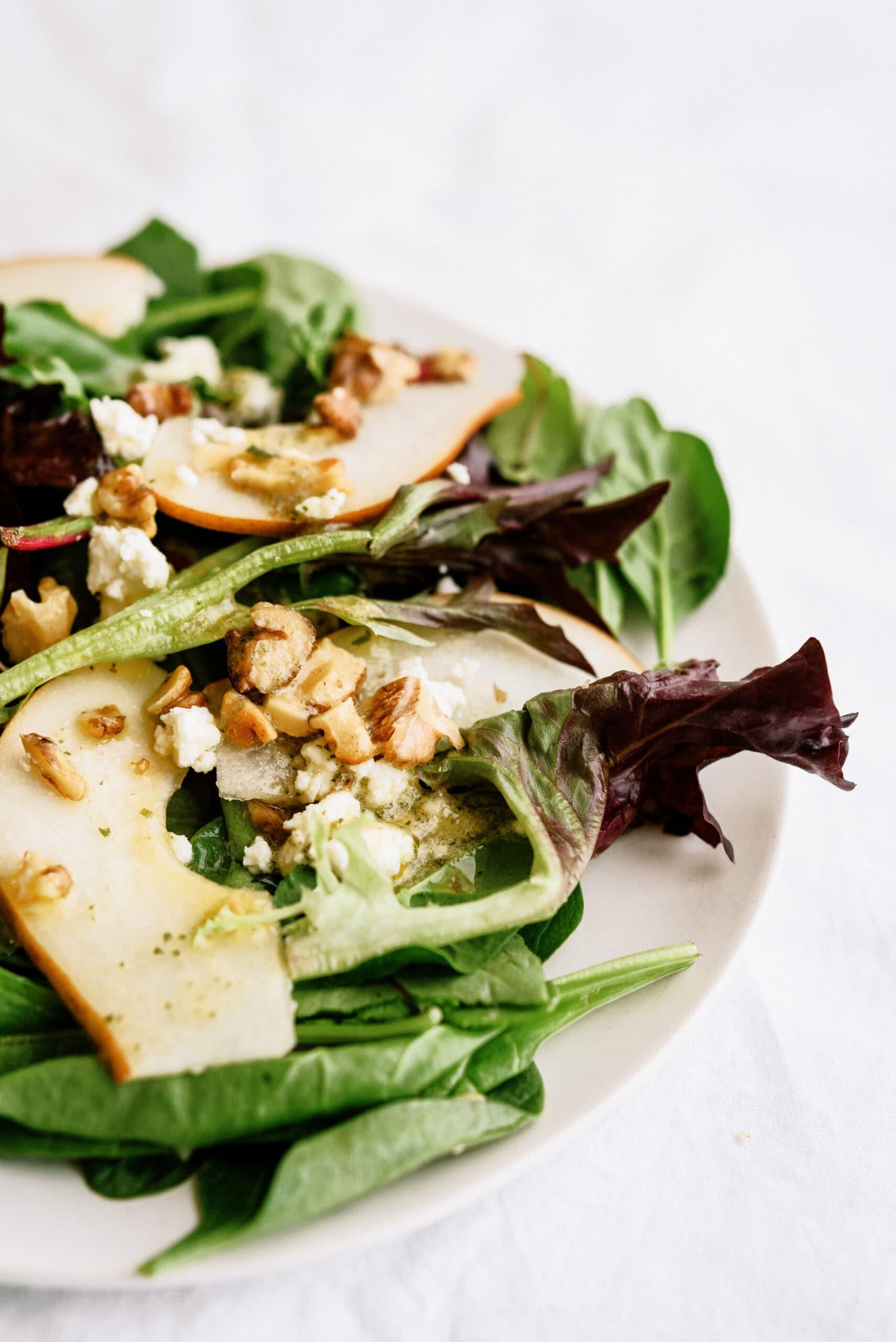 pear salad on plate