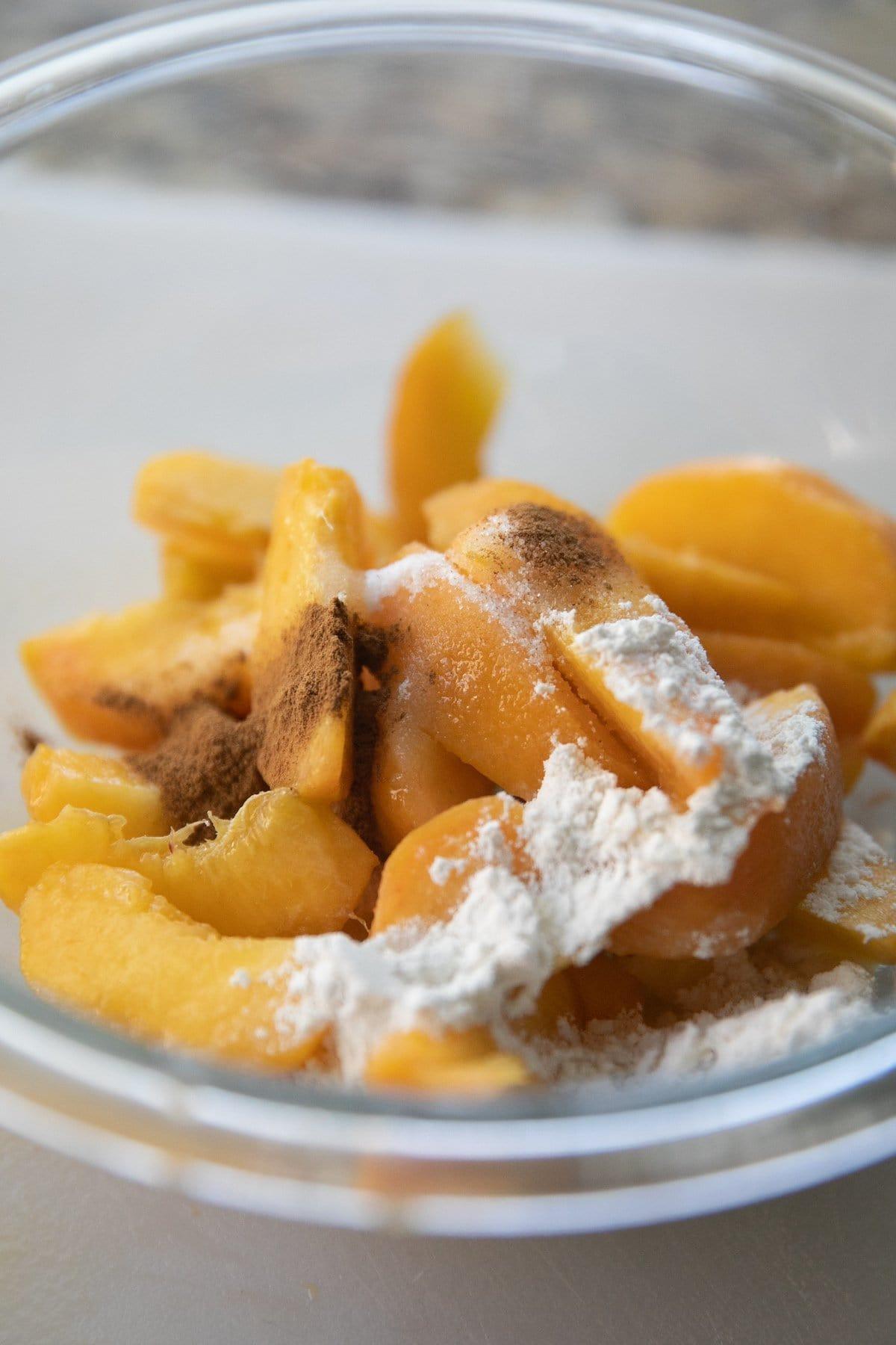 peach mixture in a bowl