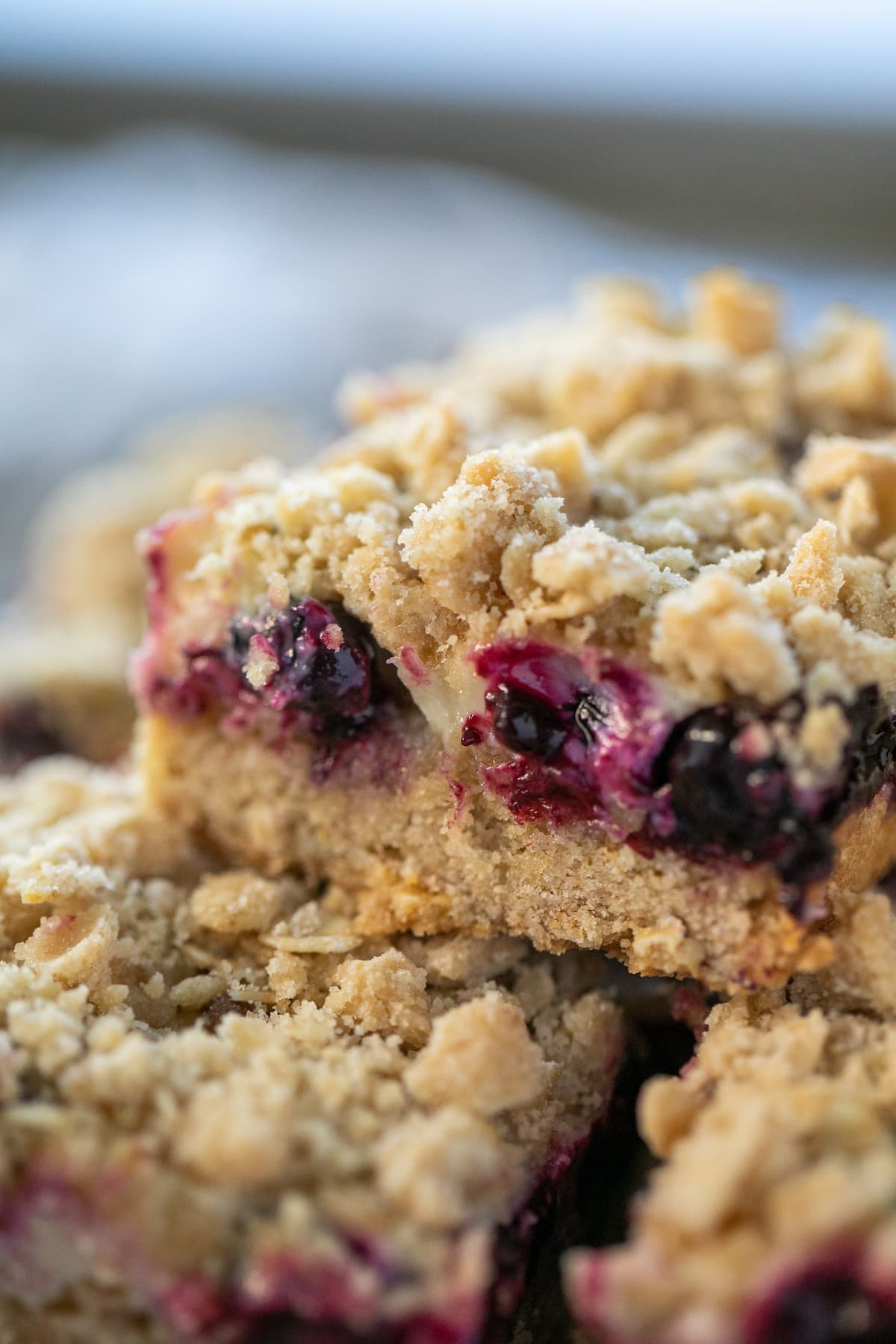 Delicious Lemon and blueberry bars