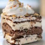 slice of ice cream sandwich cake