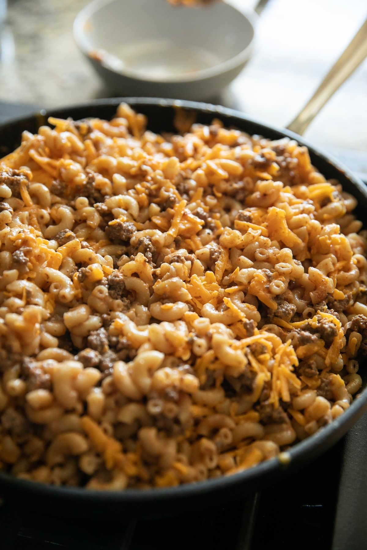 cheeseburger casserole with cheese